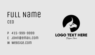 Monochrome Bull Head Business Card