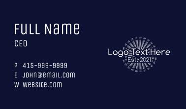 Winter Firework Wordmark Business Card