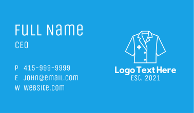 White Doctor Uniform Business Card