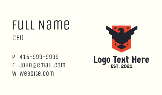 Patriotic Eagle Shield Tactical Business Card