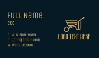 Minimalist Wheelbarrow  Business Card