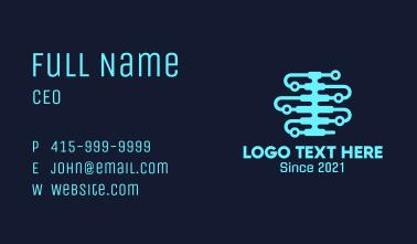 Digital Spine Circuit Business Card