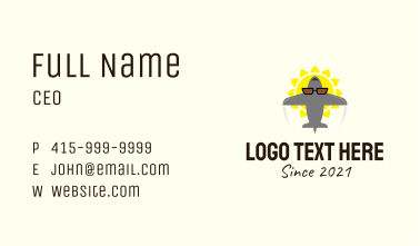 Summer Travel Agency Business Card