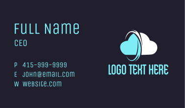 Cyber Cloud Storage Business Card