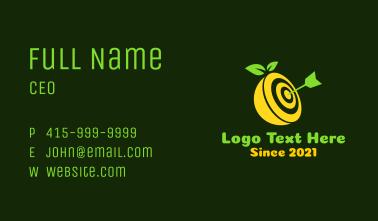 Fresh Lemon Target Business Card