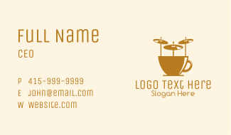 Drum Music Cafe Business Card