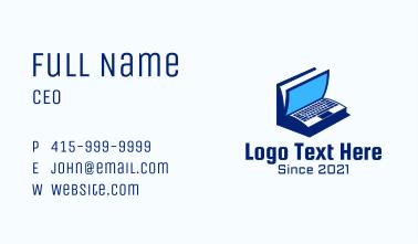 Laptop Book Business Card