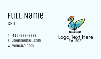 Colorful Wild Duck Business Card