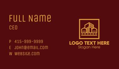 Gold Skyscraper Property Business Card