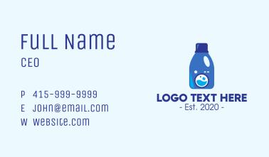 Laundry Liquid Detergent Business Card