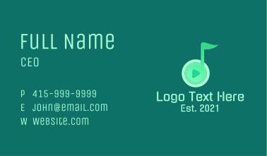 Music Note Playlist Business Card
