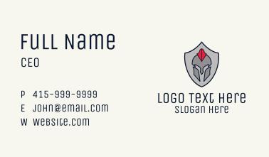 Spartan Badge Business Card