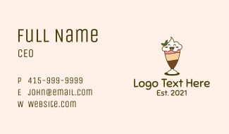 Smiling Face Smoothie Business Card