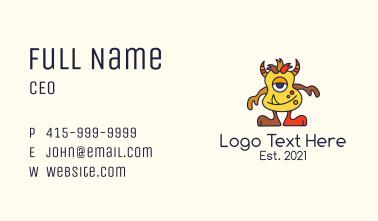 Horned Monster Mascot Business Card