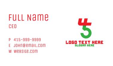 Number 45 Monogram Business Card
