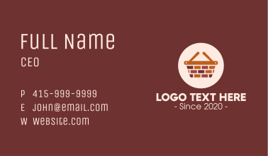 Brick Wall Shopping Basket Business Card