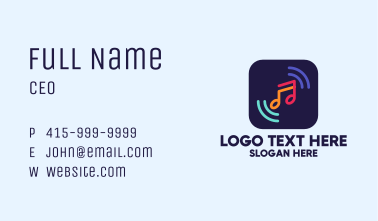 Music Streaming App Business Card