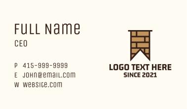 Brown Brick Flag Business Card