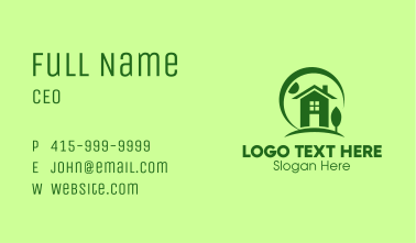 Eco Friendly Residence Business Card