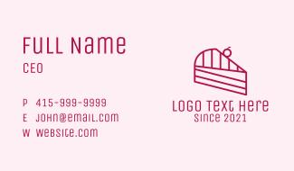 Pink Cake Slice  Business Card