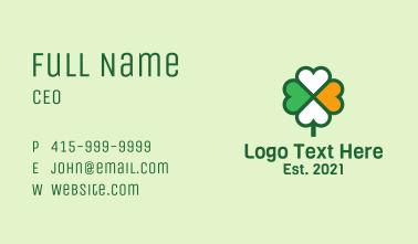 Lucky Irish Clover  Business Card