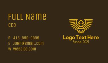Native Bird Man Symbol Business Card