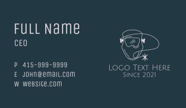 Minimalist Welding Mask Business Card