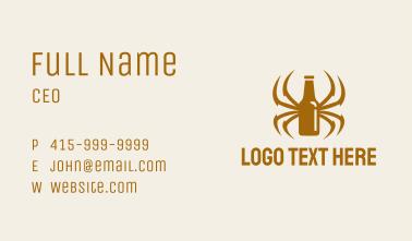 Spider Legs Bottle Business Card