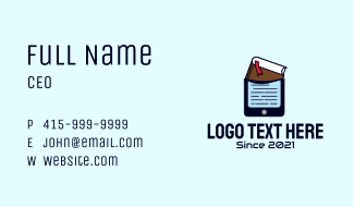 Book Mobile Phone  Business Card