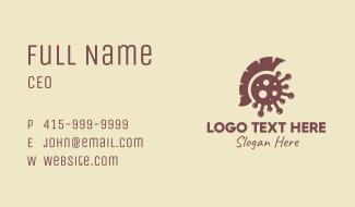 Brown Spartan Virus Business Card