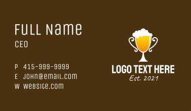Beer Trophy Bar  Business Card