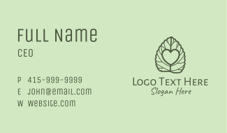 Oregano Heart Business Card