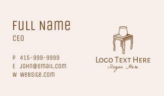 Wooden Furniture Table  Business Card