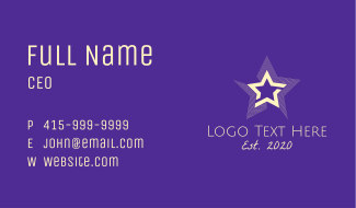 Bright Entertainment Star Business Card