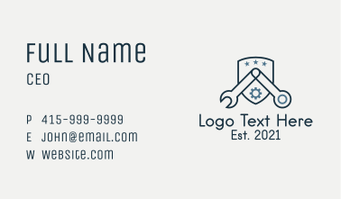 Wrench Hardware Store  Business Card