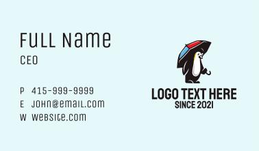 Penguin Umbrella  Business Card