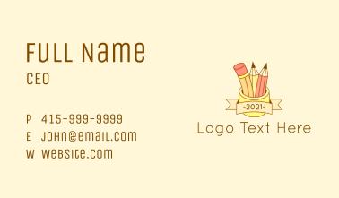 Pencil Organizer Banner Business Card