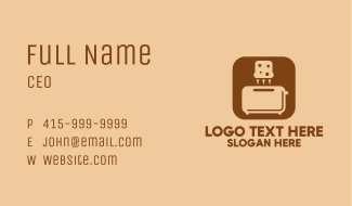 Bread Toaster Mobile App Business Card