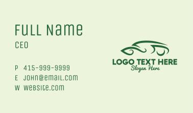 Fancy Eco Car Business Card