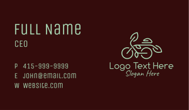 Green Nature Bicycle Business Card
