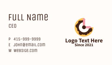 Clock Doughnut  Business Card
