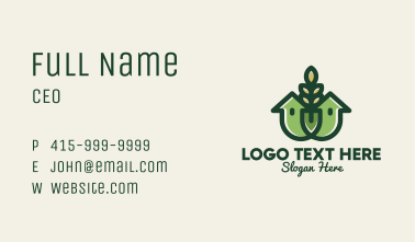 Organic Wheat House Business Card