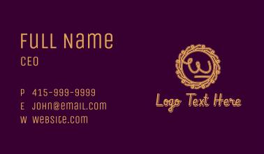 Baroque Decor Letter W Business Card