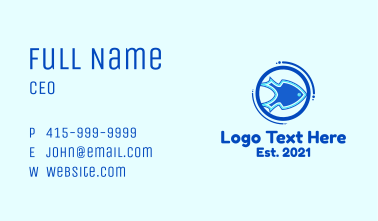Blue Spear Fish Business Card