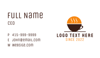 Morning Coffee Business Card