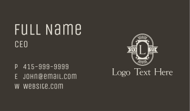 Old School Template Letter  Business Card