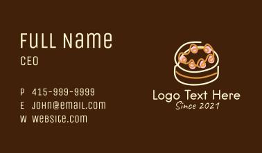 Sweet Cake Dessert Business Card