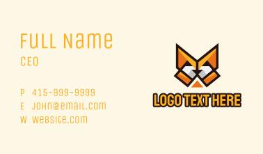 Geometric Fox Mascot  Business Card