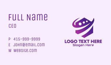 Modern Digital Tech Hexagon Business Card