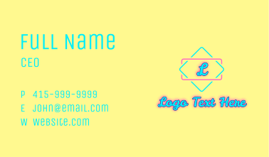 Summer Glowing Letter Business Card